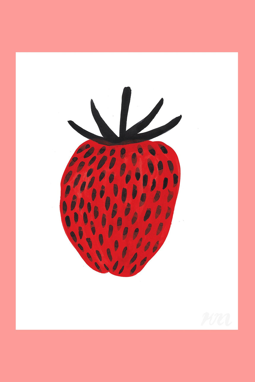Strawberry Food Print