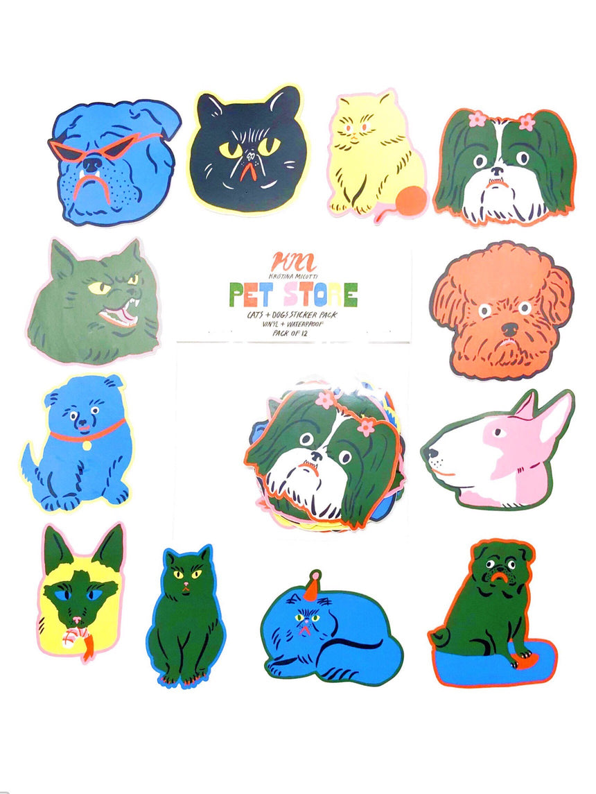 Pet Store Cats and Dogs Sticker Pack
