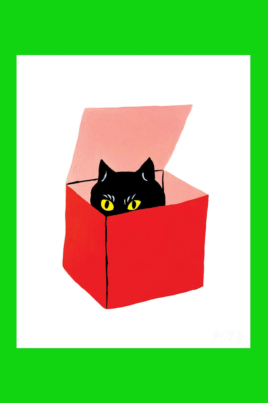 Cat in a Box Pet Store Print