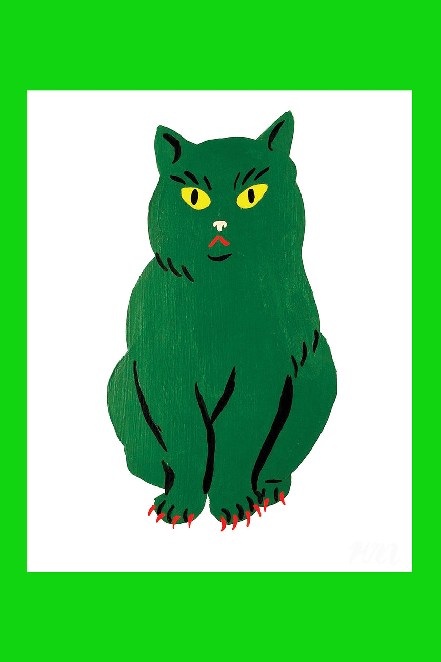 Green Cat Pet Store Print