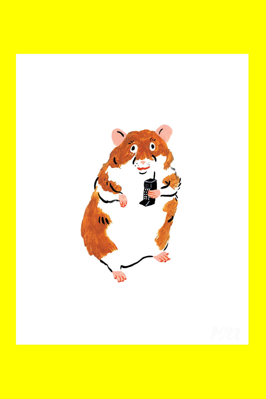 Business Hamster Pet Store Print