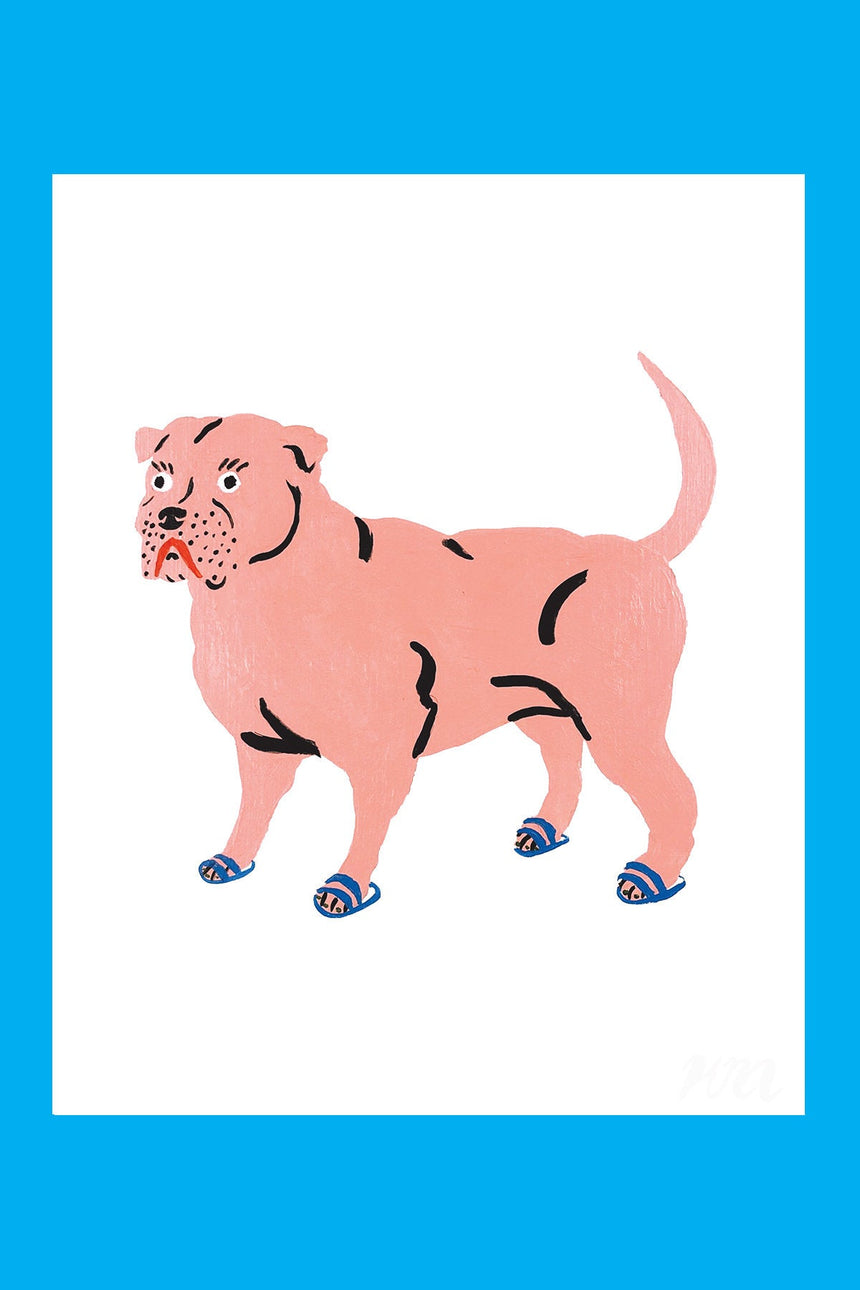 Pitbull Pet Store Dog Print