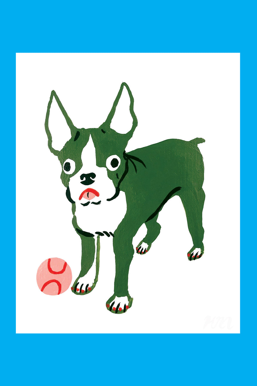 Boston Terrier Pet Store Dog Print