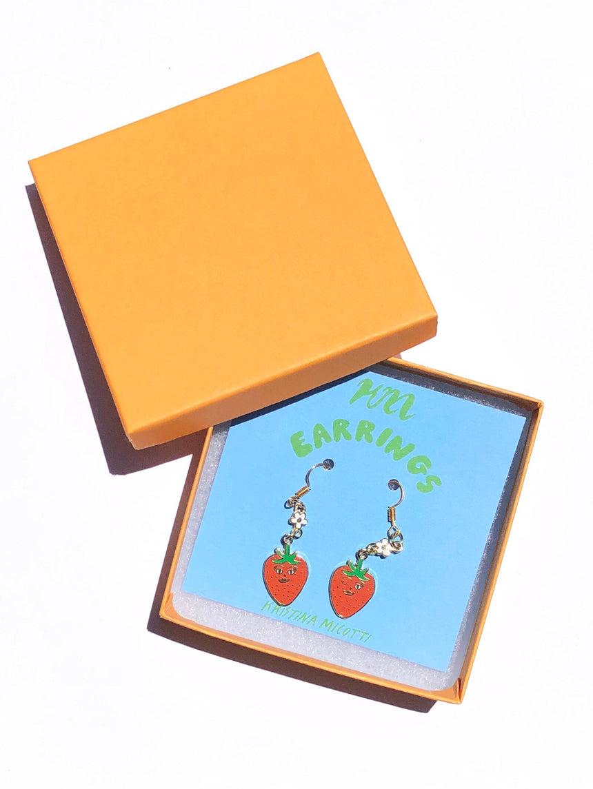 Flirty Strawberry Earrings