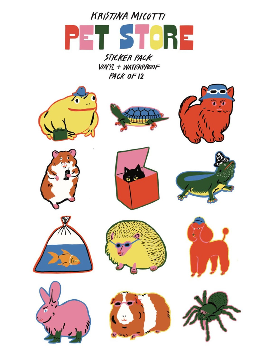 Pet Store Variety Sticker Pack