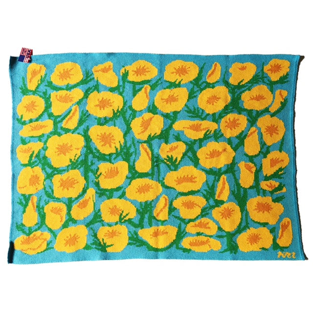 California Poppy Baby Blanket