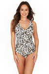 Wild at Heart Cross Front Tummy Control One Piece Swimsuit