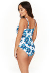 Hakuna Matata Esther Wrap Front Design Tummy Control One Piece Swimsuit - Final Sale