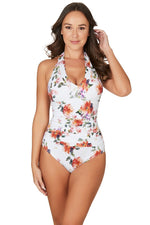 Paradise Splice White Peggy Tummy Control One piece Swimsuit