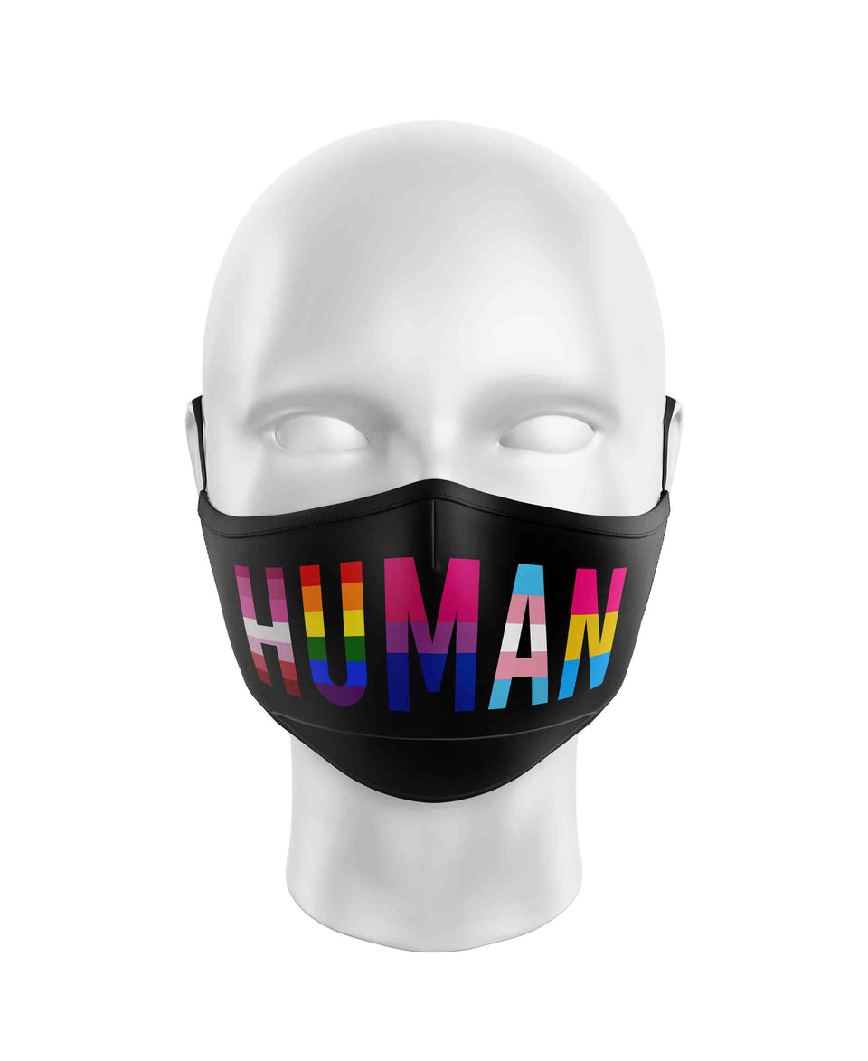 Human Pride Flag Mask