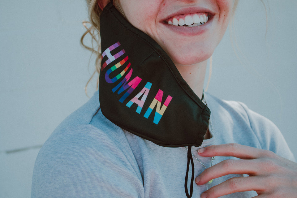 HUMAN Pride Flags Face Mask