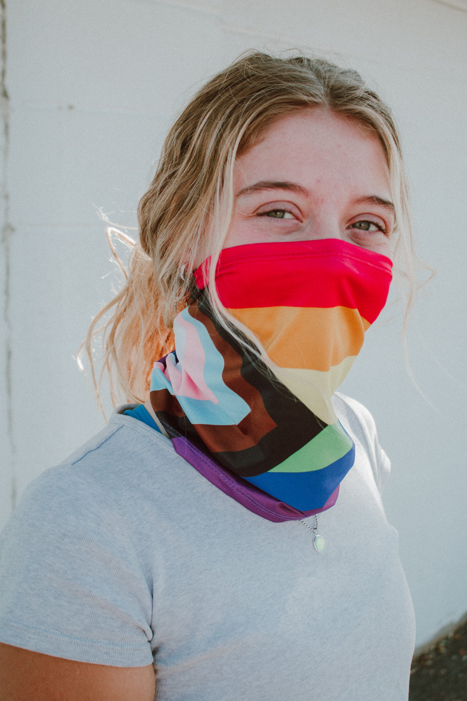 Progress PRIDE Flag Face Mask Gaiter