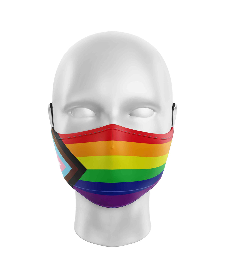 Progress Pride Flag Face Mask