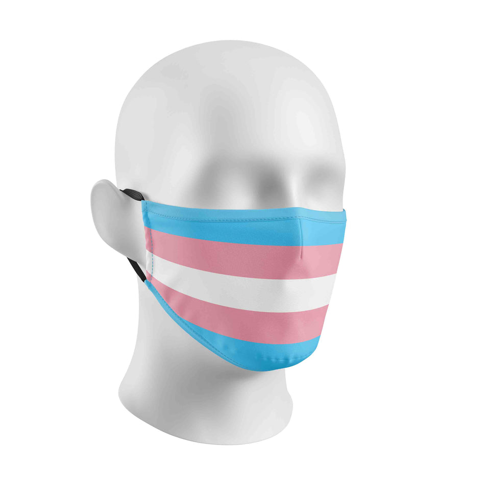 Transgender TRANS Flag Face Mask