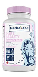 herbaland gummies vitamin supplement vegan collagen plant-based canada skin wrinkle boost