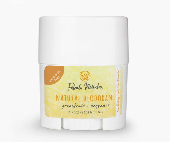 Travel size of our Natural Baking Soda Free Deodorant (grapefruit + bergamot)