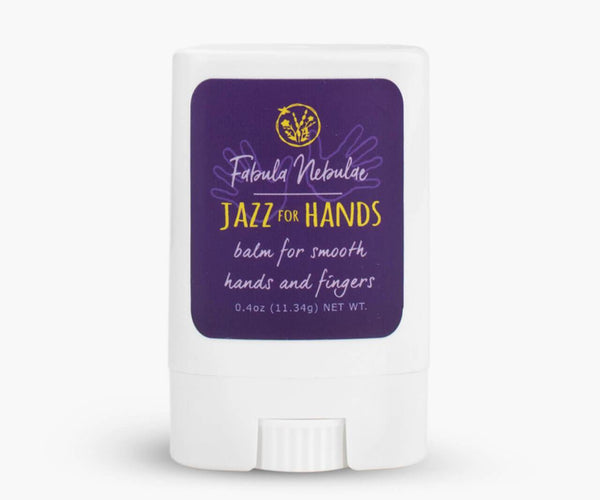 Jazz for Hands balm for smooth hands and fingers on white background