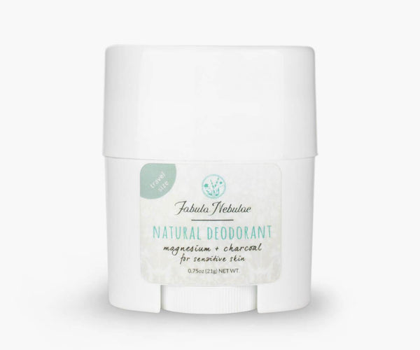 Travel size of our Natural Baking Soda Free Deodorant (unscented magnesium & charcoal)