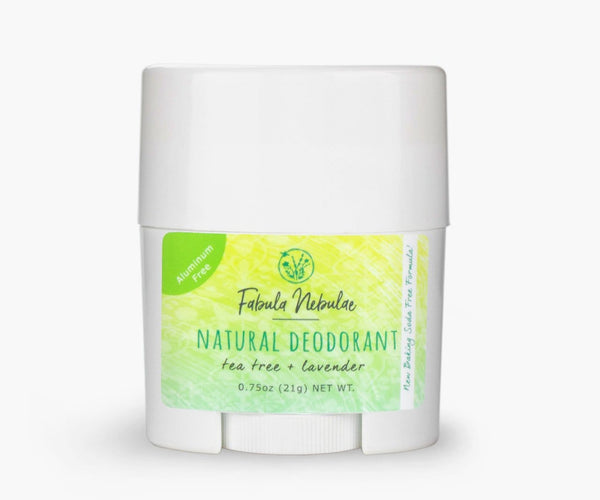 Travel size of our Original Baking Soda Free Natural Deodorant (tea tree + lavender)