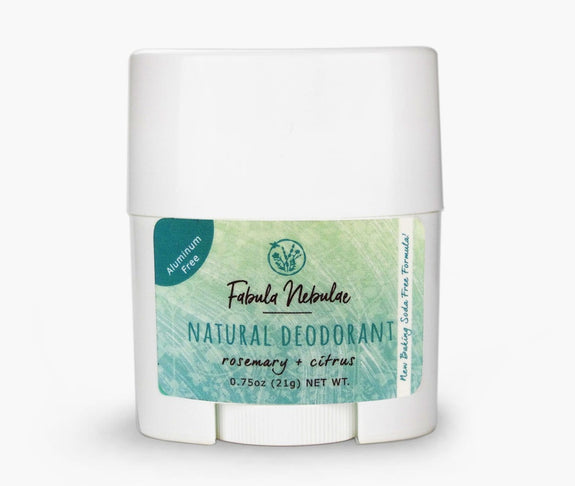Travel size of our Natural Baking Soda Free Deodorant (rosemary + citrus)