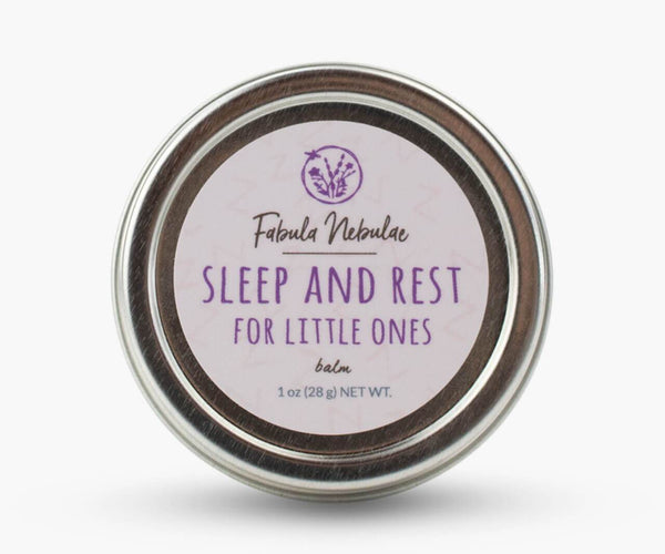 Sleep and Rest for little ones aromatherapy balm on white background