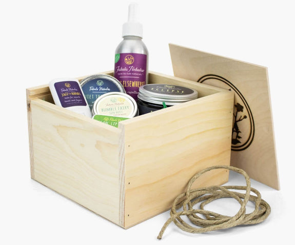 Large gift box of natural skin care for Spring Season