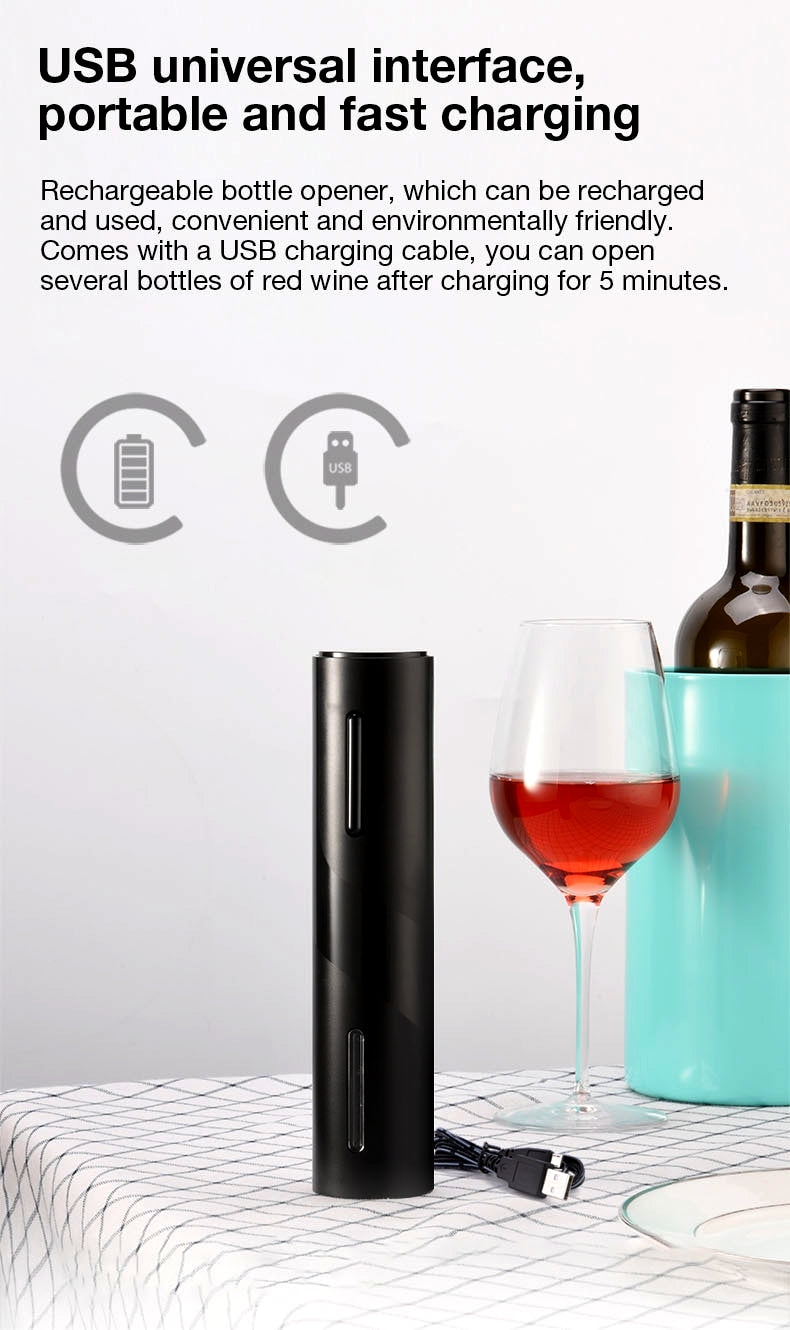 Electric Wine Opener (Black) [Set Of 7] By Low Cost Leeder