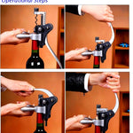 Wine Opener,9pcs Luxury Rabbit Corkscrews Lever Arm,Wine Accessory Sets with Bottle Openers,Foil Cutters,Aerator,Pourers/Stoppers,Thermometers,Drip Rings,Vacuum Pump,Spare Spirals and Gift Box By Low Cost Leeder