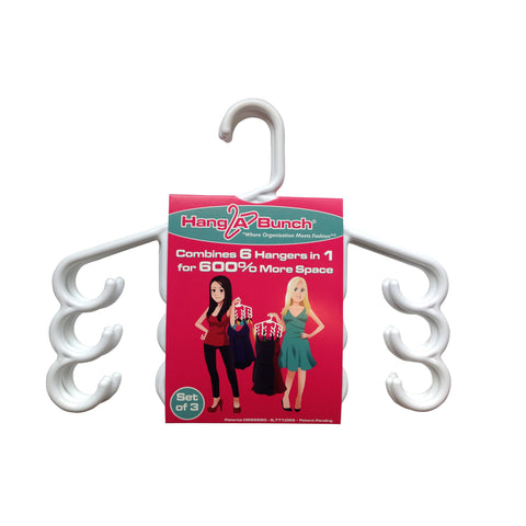 Multi-Purpose Hanger - SET OF 3 - WHITE