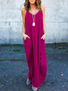 Spaghetti Strap Baggy Casual Maxi Dress
