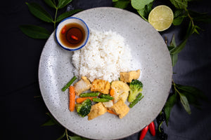 Stir Fried Tofu and Garden Vegetables