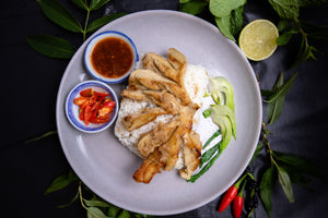 Vegan Hainan Chicken with Shallot Ginger Sauce