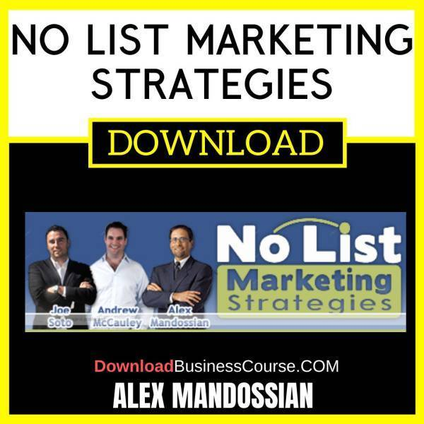 Alex Mandossian No List Marketing Strategies FREE DOWNLOAD iDownloadProgram
