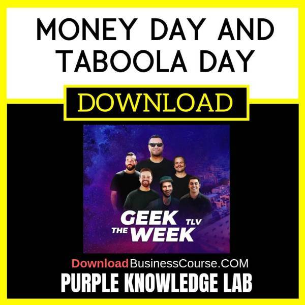 Purple Knowledge Lab Money Day and Taboola day FREE DOWNLOAD iDownloadProgram