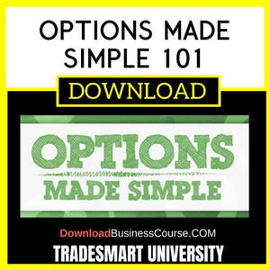 Tradesmart University Options Made Simple 101 FREE DOWNLOAD iDownloadProgram