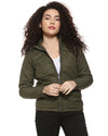 Full Sleeve Solid Women Stylish Bomber Jacket
