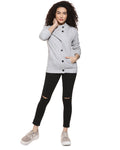 Full Sleeve Solid Women Casual Stylish Jacket