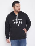 Men Plus Size Printed Stylish Casual Winter Hooded Sweatshirts