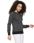 Full Sleeve Solid Women Sweatshirt