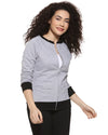 Women's Grey Zipper Sweatshirt