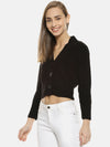 Women Solid Casual Crop Sweaters