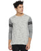 Men's Round Neck Full Sleeve Cream T-shirt
