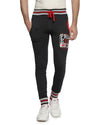 Men's Charcoal Color Block Joggers
