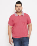 Instafab Men Plus Size Stylish Polo Neck Solid Casual T-Shirts