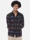 Men Full Sleeve Checkered Casual Shirt