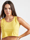 Women Yellow Cropped T-Shirt