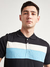 Men Multi Color Polo Neck T-Shirt