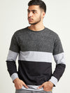 Men Full Sleeve Multi Color T-Shirt