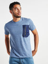 Men Stylish Blue T-Shirt
