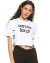 Casual No Sleeve Printed Women White Top